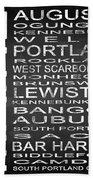 Subway Maine State Square Beach Towel