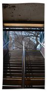 Subway Stairs To Freedom Beach Towel