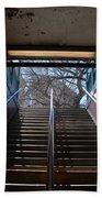 Subway Stairs To Freedom Beach Towel