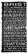 Subway Tennessee State Square Beach Towel