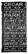 Subway Utah State Square Beach Towel