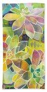Succulent Mirage 1 Beach Sheet