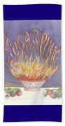 Sugarplum Fire Beach Sheet