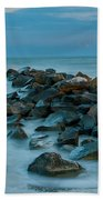 Sullivan's Island Rock Jetty Beach Towel
