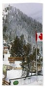 Sulphur Mountain In Banff National Park In The Canadian Rocky Mountains Beach Towel