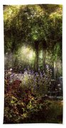 Summer - Landscape - Eve's Garden Beach Towel by Mike Savad