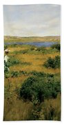Summer At Shinnecock Hills Beach Towel by William Merritt Chase