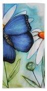 Summer Blue Beach Towel