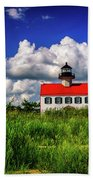 Summer Clouds At East Point Beach Towel