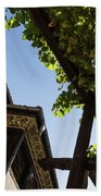 Summer Courtyard - Decorated Eaves And Grape Arbors In The Sunshine Beach Towel