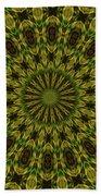10696 Summer Fire Mask 54 Kaleidoscope 1 Beach Towel