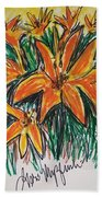Summer Flowers Beach Towel