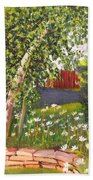 Summer Garden Beach Towel