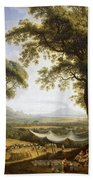 Summer Harvest On Caserta Plain Beach Towel