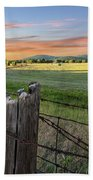 Summer Hay Bales  Beach Towel
