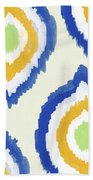 Summer Ikat- Art By Linda Woods Beach Towel