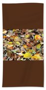 Summer Leaves For Fall Beach Towel
