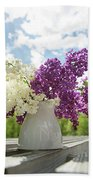 Summer Lilacs Beach Towel