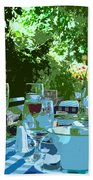 Summer Lunch Remembered Beach Towel