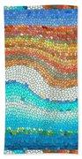 Summer Mosaic Beach Towel
