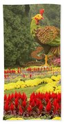 Summer Palace Flower Phoenix Beach Towel