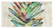 Summer Palm Leaf- Art By Linda Woods Beach Towel