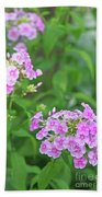 Summer Purple Flower Beach Towel