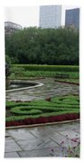 Summer Rain In The Conservatory Garden Beach Towel