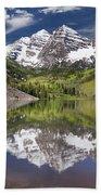 Maroon Bells Aspen Colorado Summer Reflections Beach Towel