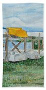 Summer Row Boats Beach Towel