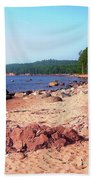 Summer Shores Of Lake Superior Beach Towel