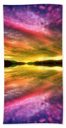 Summer Skies At Skaha Beach Towel