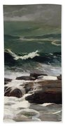 Summer Squall Beach Towel by Winslow Homer