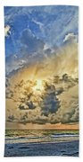 Summer Storms In The Gulf Beach Towel