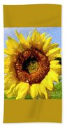 Summer Sunflower Beach Towel