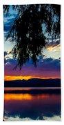Sunset At Agency Lake, Oregon Beach Towel