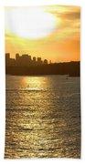 Summer Sunset In Sydney Beach Towel