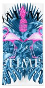Summer Time Tropical  Beach Towel