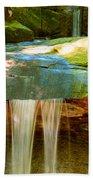 Summer Waterfall Beach Towel