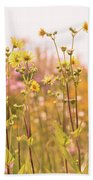 Summer Wildflower Field Of Sunflowers Beach Towel