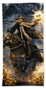 Summoned Skull Fantasy Art Beach Towel