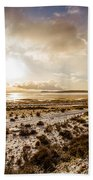 Sun Above Lake Argentino Beach Towel