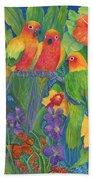 Sun Conure Parrots Beach Towel