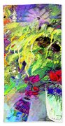 Sun Flower Bouquet Beach Towel