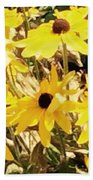 Sun Flower Glory Beach Towel