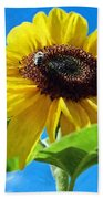 Sun Flower - Id 16235-142741-1520 Beach Towel