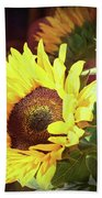 Sun Of The Flower Beach Towel by Michael Hope