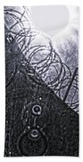 Sun Over Barbed Wire Beach Towel