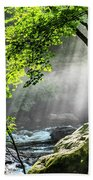 Sun Rays On Williams River  Beach Towel