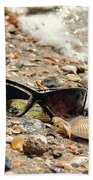 Sun Shades And Sea Shells Beach Towel